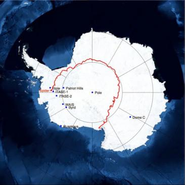 Sixteen days after launch, the team brought SPIDER back down to the ice because wind patterns suggested that the instrument might otherwise drift northward off the continent and not return to a safe recovery location. SPIDER landed in a remote area of Antarctica, more than 1,000 miles from McMurdo Station. The team is working on plans to recover the hard drives and payload. Credit: John Ruhl (Case Western Reserve University)