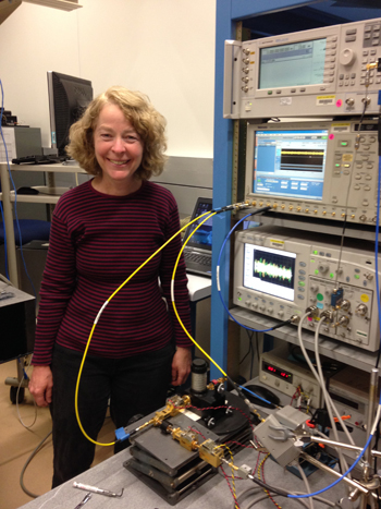 To support wireless communications at higher frequencies offering more channel capacity, NIST engineer Kate Remley led development of this new 94 gigahertz calibrated signal source for testing receivers and other devices. Credit: NIST