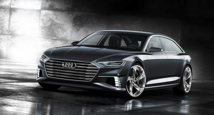 Sharp lines of the front of Audi prologue Avant show car, image courtesy of Audi