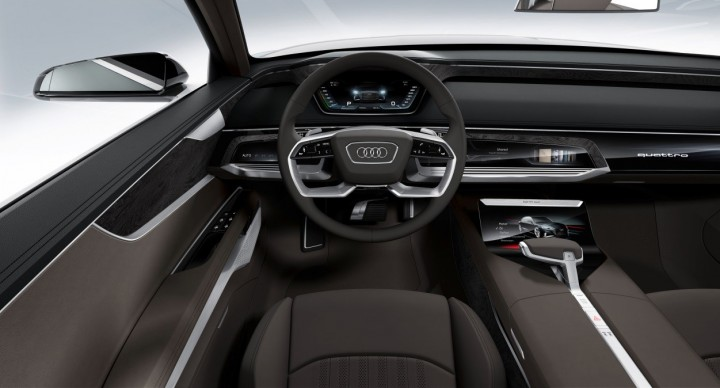 High-quality materials and game-changing technology are found both outside and inside of the car, image courtesy of Audi