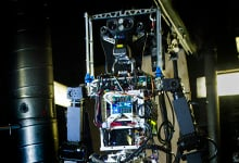 SAFFiR is a bipedal humanoid robot being developed to assist Sailors with damage control and inspection operations aboard naval vessels. (U.S. Navy photo by John F. Williams)