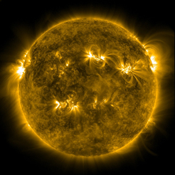 Stormy star: The Sun resembles a gigantic ball of gas whose activity is driven by strong magnetic fields. This image was taken by NASA's Solar Dynamics Observatory satellite. © NASA/SDO and the AIA, EVE, and HMI science teams