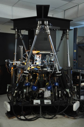 The U.S. Naval Research Laboratory (NRL) robot, NRL66.3, is fully automated. The lab has tested over 150 different material systems, with potential applications for ballistic missiles to rocketry to automobile manufacturing. (Photo: U.S. Naval Research Laboratory/Jamie Hartman)