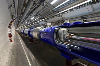 The Large Hadron Collider (above) will resume activity after a two-year upgrade. Image credit: Daniel Dominguez, CERN