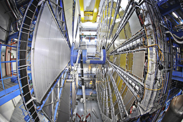The calorimeters at final position ready for run 2 on ATLAS cavern side A. Image credit: Marcelloni De Oliveira, Claudia, CERN