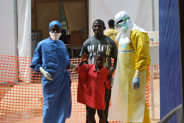In December 2014, the Belgian B-Fast emergency team set up the B-LiFE laboratory at an Ebola treatment centre in N'Zerekore, Guinea, West Africa. B-LiFE, the biological light fieldable laboratory for emergencies, includes a tent that is easy to set up, specialised equipment to inactivate and analyse biological samples, and an inflatable satellite antenna for satcoms. Developed within ESA's ARTES Integrated Applications Promotions programme, B-LiFE is a mobile diagnostic facility for speeding up diagnoses of pathogens in humanitarian and medical emergencies. Copyright ESA