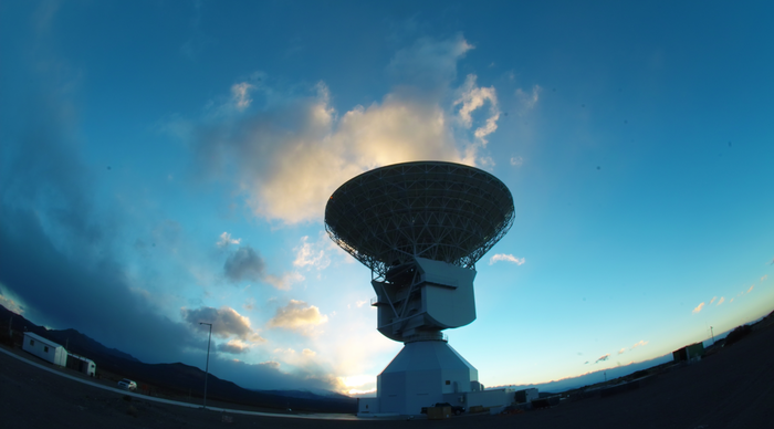 This image, taken in 2012, shows DSA 3 Malargüe station, one the world's most sophisticated tracking stations used for deep space communications, as it neared inauguration in Malargüe, Argentina. Since entering service in December 2012, the station has ensured reliable communications with missions voyaging hundreds of millions of kilometres into our Solar System. The new ESA tracking station, near the town of Malargüe in Mendoza province, 1000 km west of Buenos Aires, joined two existing stations, in Spain and Australia, and now provides global coverage for the Agency's deep-space missions. Copyright: ESA