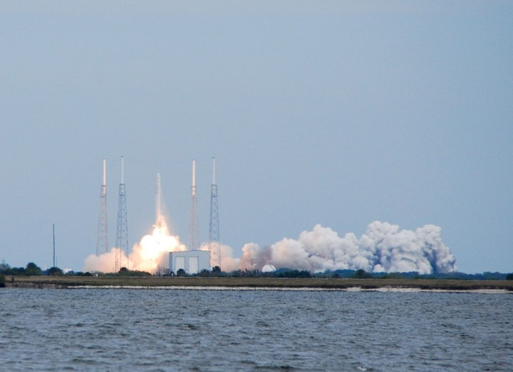 The launch of SpaceX's CRS2 resupply mission headed to the ISS. Image credit: David Dickinson