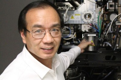 UCLA California NanoSystems Institute Hong Zhou runs the Electron Imaging Center for Nanomachines laboratory at CNSI, where a highly sophisticated cryo electron microscope made the research possible.