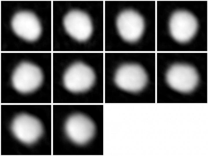 Series of images of the asteroid Juno taken with ALMA as part of the telescope's Long Baseline Campaign. Credit: ALMA (NRAO/ESO/NAOJ)