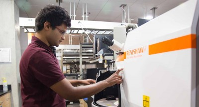 Rajaram Narayanan, a nanoengineering graduate student at UC San Diego Jacobs School of Engineering and lead author of the Nano Letters paper.