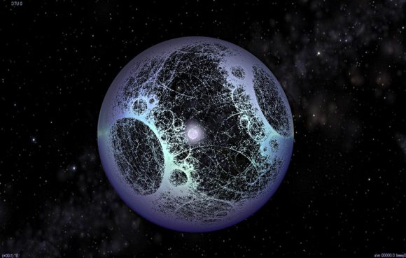 Freemon Dyson theorized that eventually, a civilization would be able to enclose its star with a megastructure that would to capture and utilize its energy. Credit: sentientdevelopments.com