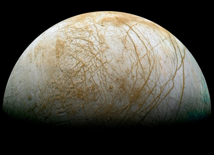 One future use for the Deep Space Atomic Clock is using the technology to help investigate possible undersea oceans within Europa – a moon of Jupiter. Credits: NASA/JPL