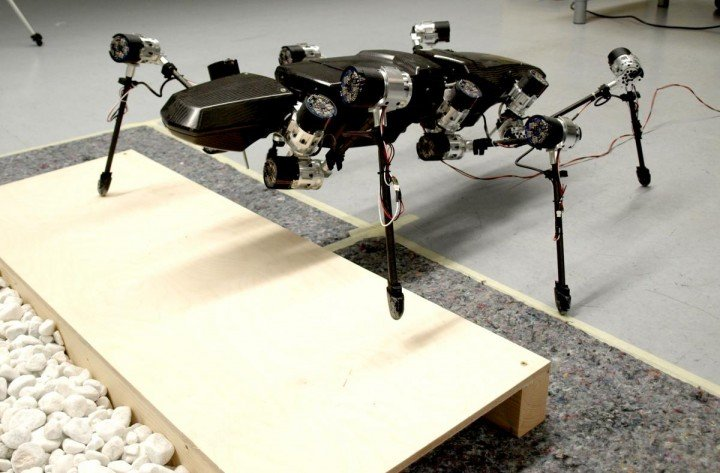 The walking robot Hector took his first steps at the end of 2014. Image credit: CITEC/Bielefeld University