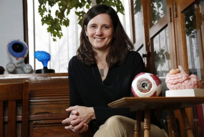 Heather Greenlee's research shows that scanning the retinas of cattle can lead to faster detection of mad cow disease. Image credit: Christopher Gannon