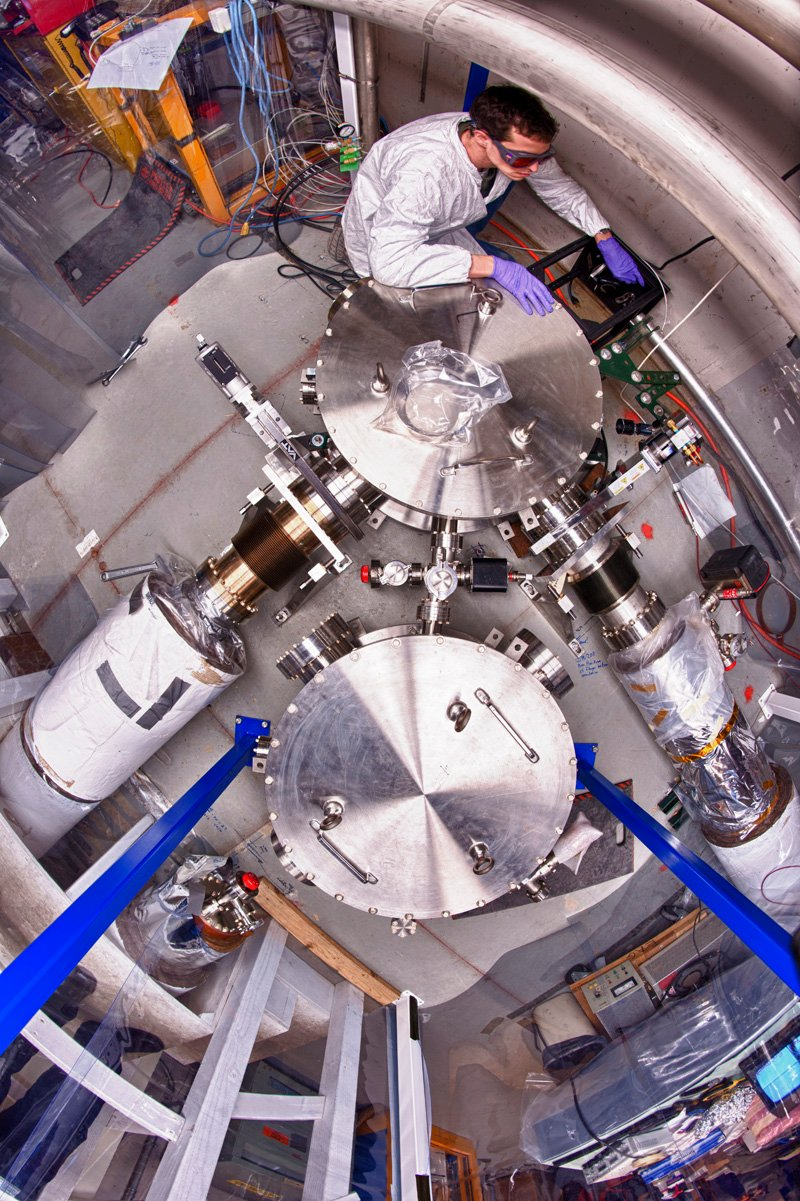 The Holometer is sensitive to high-frequency gravitational waves, allowing it to look for events such as cosmic strings. Photo: Reidar Hahn
