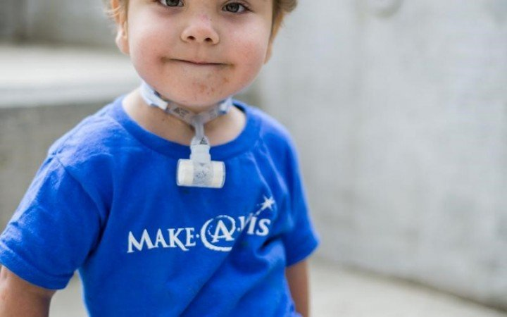 Kaiba, age 3, is now a happy boy thanks to 3D printed tracheal splint. Image courtesy uofmhealth.org