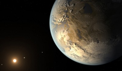 Artist's conception of Kepler-186f, the first validated Earth-size planet to orbit a distant star in the habitable zone.