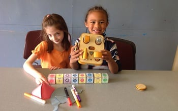 Kibo allows young tinkerers to build and program a robot using blocks and modular components.