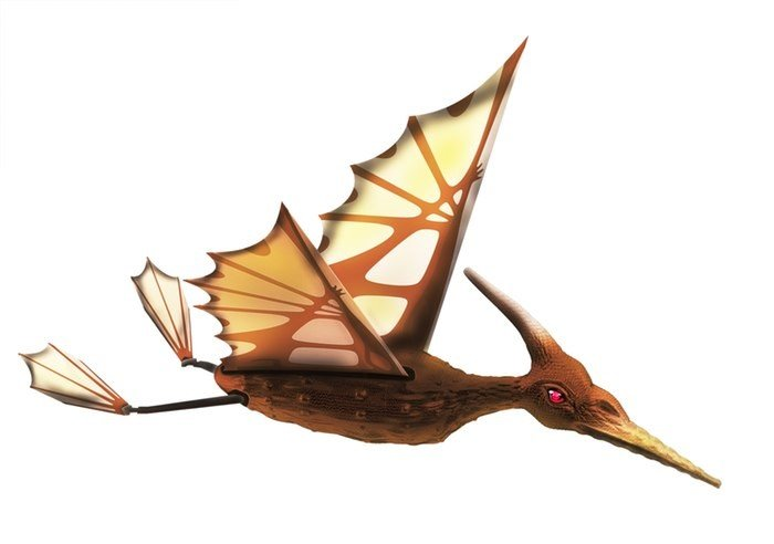 Pterodactyl comes in several different colours, one of which is this brown to make it look just a little bit more realistic.