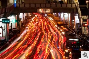 Sunday evening traffic in Bangkok's Siam Square area. Image credit: Mark Fischer