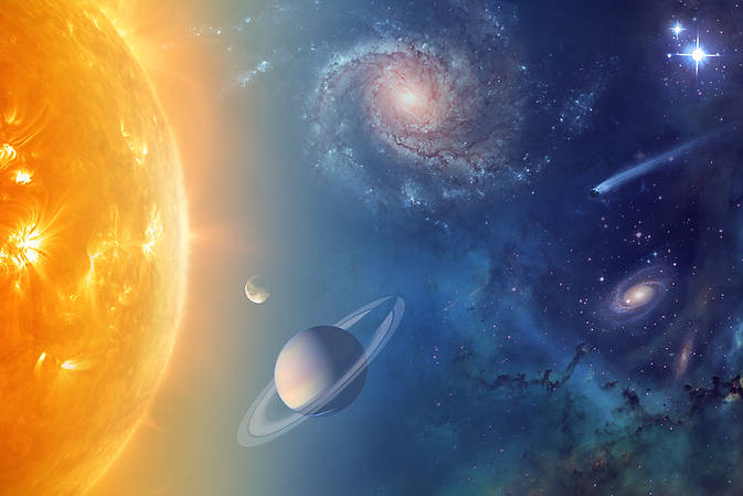 NASA is exploring our solar system and beyond to understand the workings of the universe, searching for water and life among the stars. Image Credit: NASA
