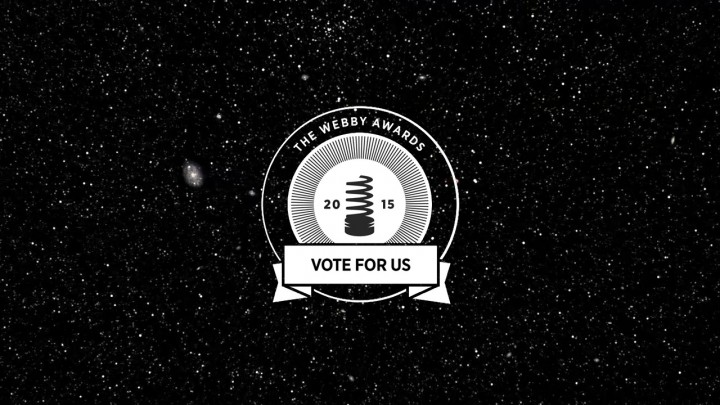Several NASA websites are nominated for the 2015 Webby People's Voice Awards. NASA fans can cast their votes through April 23.