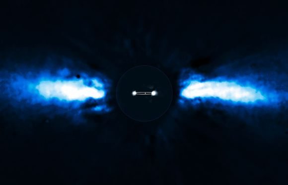 The exoplanet Beta Pictoris b, which was observed by direct detection in 2009. Credit: ESO