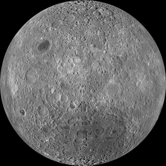 High resolution photo map of the moon's far side imaged by NASA's Lunar Reconnaissance Orbiter. Credit: NASA