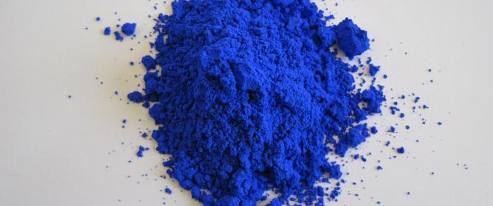 Vivid blue pigment has puzzled entire civilizations, but finally was created in laboratory by happy accident. It proved to be nontoxic, durable and easy to manufacture (Image courtesy of Oregon State University)