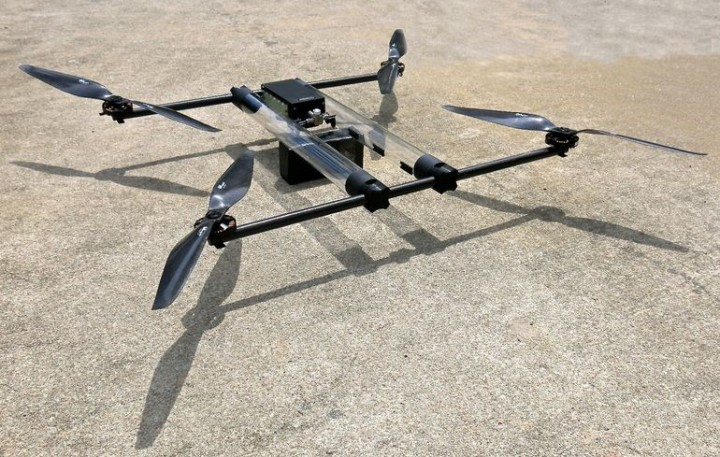 "The new hydrogen fuel cell-powered drone, called ""Hycopter"", will be capable of flying for up to 4 hours on a single charge – 8 to 10 times longer than any other UAV on the market today. Image credit: Horizon Unmanned Systems."