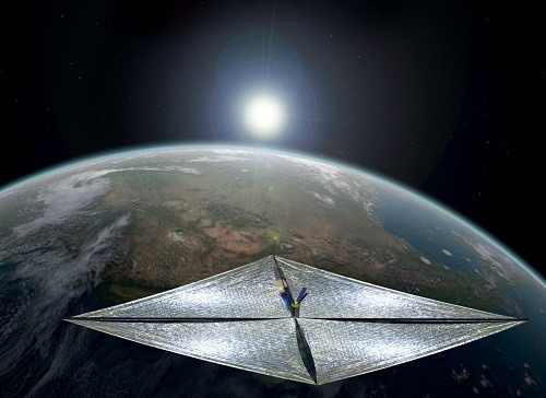 An artist's conception of LightSail in low Earth orbit. Image credit: The Planetary Society