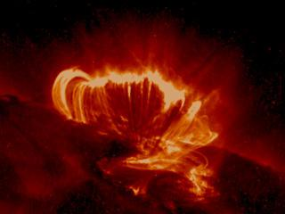 Solar flare on the surface of the Sun. Image credit: NASA