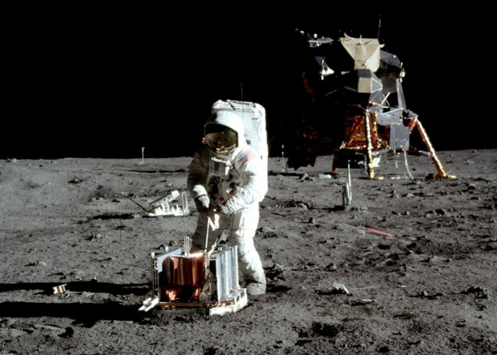 Experience during spacewalks in orbit around the Earth, proved valuable in preparing for lunar extravehicular activities, better known as moonwalks. On July 20, 1969, Apollo 11 lunar module pilot Buzz Aldrin deploys the Passive Seismic Experiment Package in the Sea of Tranquility. Credits: NASA/Neil Armstrong