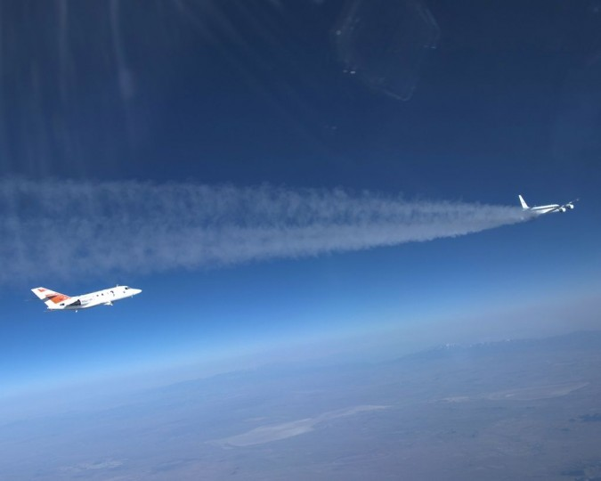 Alternative Fuel Effects on Contrails and Cruise Emissions (ACCESS) II research campaign.  Credits: NASA