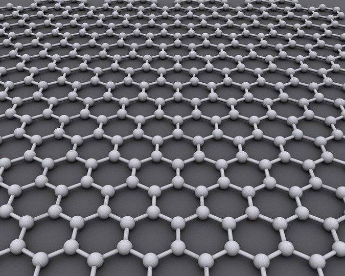 Graphene is a allotrope of carbon, one atom thick and has many extraordinary properties that are making scientists curious about possible applications for the material. Now scientists found a way to make it glow in a very bright and effective fashion. Image credit: AlexanderAlUS via Wikimedia, CC-BY-SA-3.0