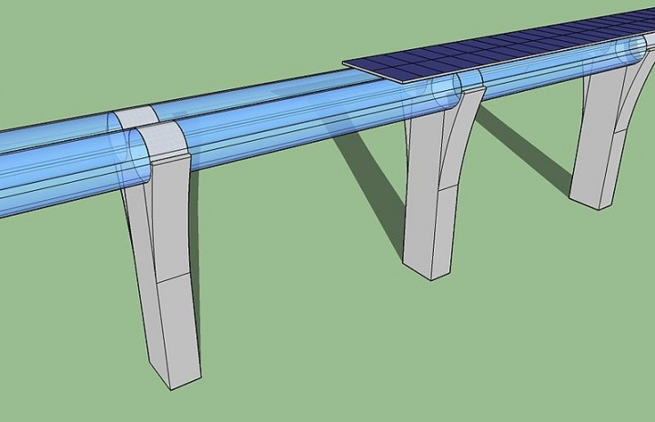 The Hyperloop transit system, if realised, would be able to transport passengers and freight from Los Angeles to San Francisco in roughly 30 minutes. Image credit: Edit1306 via Wikimedia.org, CC BY-SA 3.0