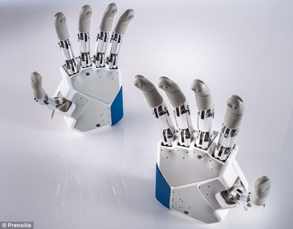 The new BeBionic prosthetic hands are strong enough for a firm handshake and delicate enough to hold a wine glass. Image credit: alexpb via flickr.com, CC BY-SA 2.0.