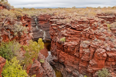 By studying iron extracted from cores drilled in rocks similar to these in Karijini National Park, Western Australia, UW-Madison researchers determined that half of the iron atoms had originated in shallow oceans after being processed by microbes 2.5 billion years ago. Image credit: Clark Johnson