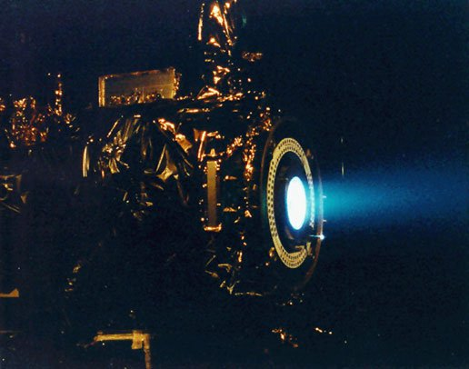 Ion Propulsion System Test for Deep Space 1. Image Credit: NASA/JPL