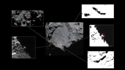 Possible candidates for Philae's location