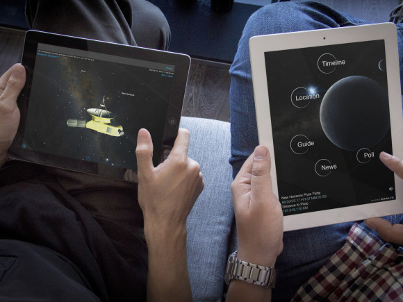 Views of Pluto Safari on iPads. Image via Simulation Curriculum.