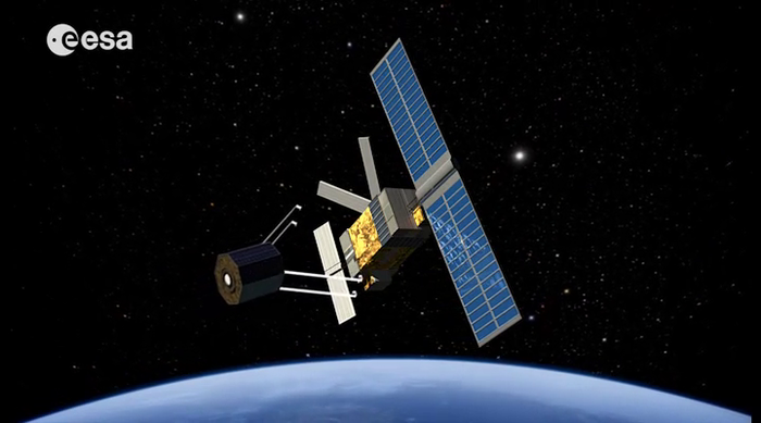 Simulations of orbital debris show that actively removing large items of debris, such as entire derelict satellites, should help to stabilise the population and prevent cascading collisions. ESA has performed a system study for an Active Debris Removal mission called e.Deorbit. Copyright ESA