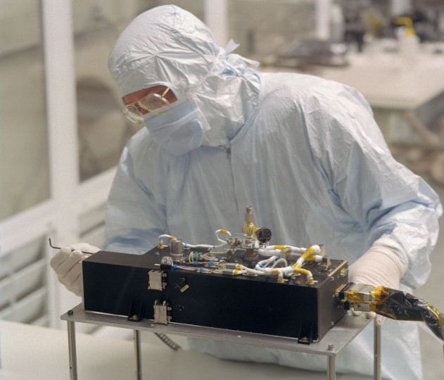 NASA's Alice ultraviolet (UV) spectrograph, seen here during construction, is aboard the European Space Agency's Rosetta spacecraft. Image Courtesy of Southwest Research Institute