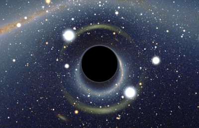 Simulated view of a black hole. Image credit: Alain Riazuelo of the French National Research Agency, via Wikipedia