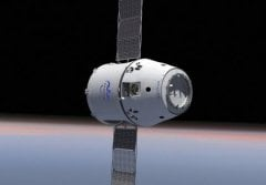 An illustration of the Dragon spacecraft being launched by SpaceX aboard a Falcon 9 rocket, which will carry hardware designed and built by CU-Boulder to the International Space Station to support biomedical experiments. Image credit: SpaceX.