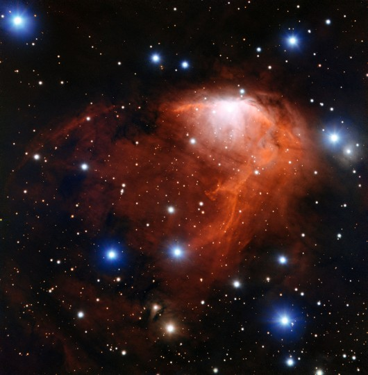 This richly coloured cloud of gas called RCW 34 is a site of star formation in the southern constellation of Vela (The Sails). This image was taken using the FORS instrument on ESO's Very Large Telescope in northern Chile. Credit: ESO