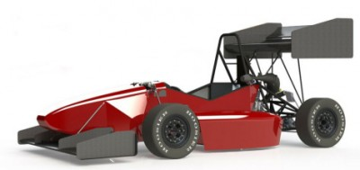 The student-engineers of Cyclone Racing have designed a formula racer with wings for this year's competitions. The resulting downforce should increase the car's cornering speeds. Image credit: Cyclone Racing.