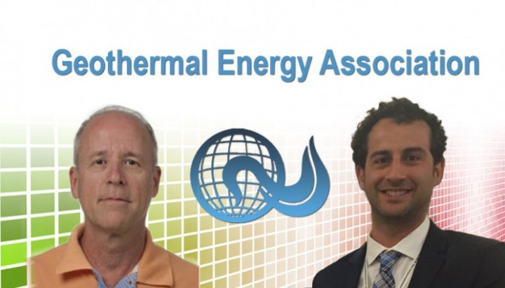 Lawrence Livermore National Laboratory engineers Tom Edmunds (left) and Pedro Sotorrio have been honored by the Geothermal Energy Association for their significant contributions during the past year to advancing technology, spurring economic development and protecting the environment.