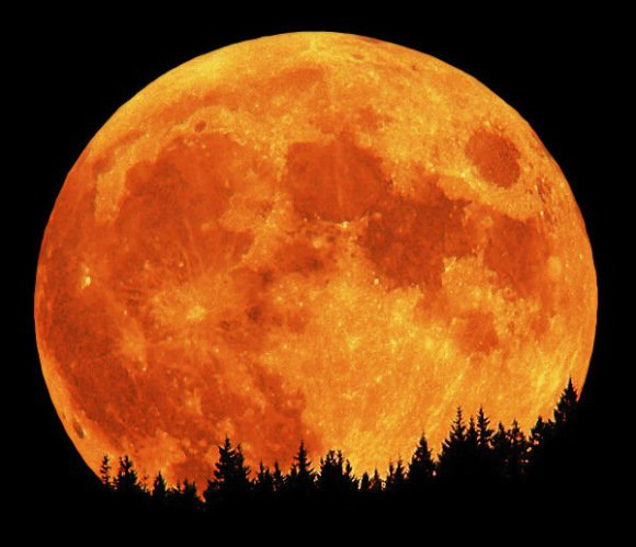 """The full moon of October is traditionally known as a """"Hunters Moon"""". Credit: David Haworth/stargazing.net"""